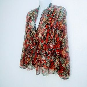 Sara Lasic collections silk blouse size S